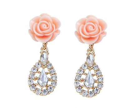 Rose Diamante Earrings