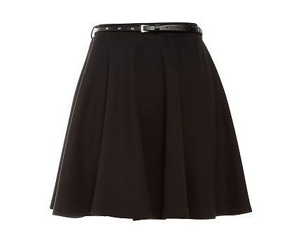 Belted Skater Skirt at Newlook