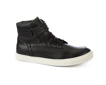 Black Velcro High Tops at Newlook