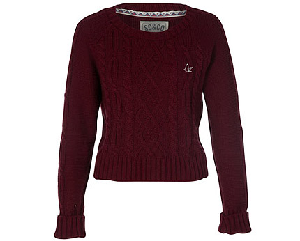 Cable Knit Jumper at Republic