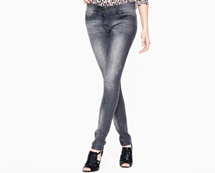 Distressed Skinny Jeans at Littlewoods