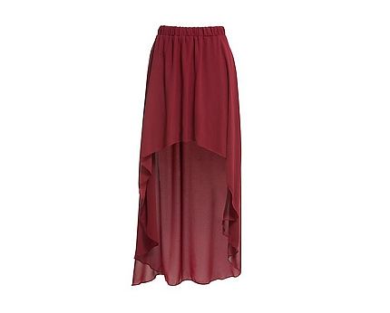 Extreme Dip Hem Skirt at Newlook