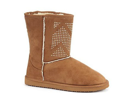 Faux Fur Studded Boots at Newlook