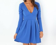 Fitted Long Sleeve Dress at Missguided