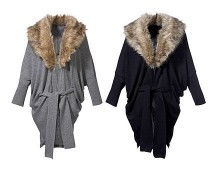 Fur Collar Cardi at Bonprix