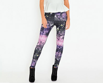 Galaxy Leggings at Missguided