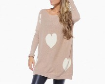 Heart Print Knit Jumper at AX Parias