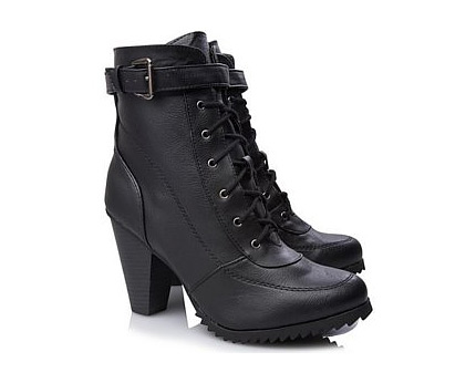 Heeled Hiker Boots at Asda