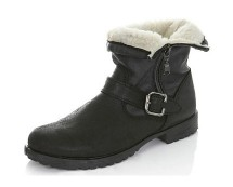 Leather Biker Boots at Missselfridge