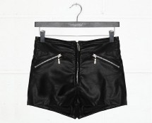 Leather Hotpants at Missguided