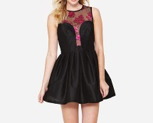 Love Label Mesh Top Prom Dress at K & Co