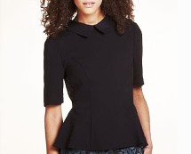 Peplum Crepe Blouse at MarksandSpencer