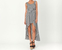 Striped Asymmetric Maxi Dress at Missguided