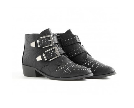 Studded Ankle Boots at Missguided