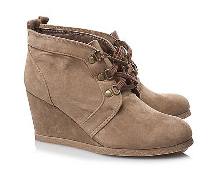 Suede Lace-up Boots at Asda