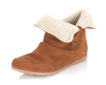 Tan Fur Cuff Boots at Missselfridge