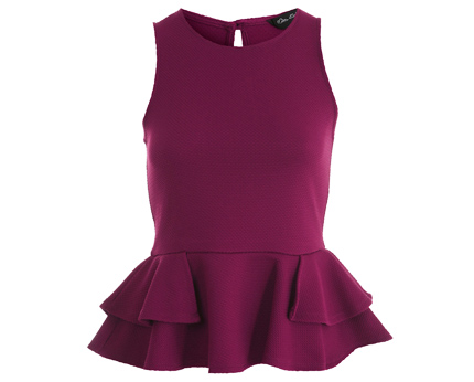 Petite Peplum Fishtail Top at Missselfridge