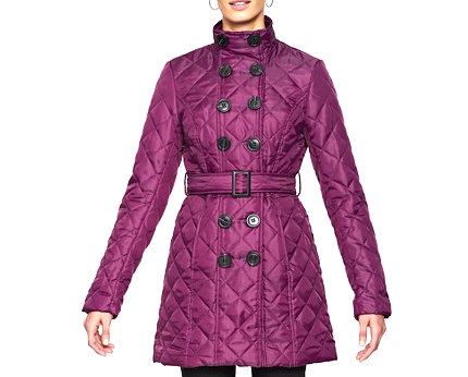 Belted Quilted Jacket at Isme