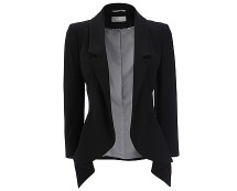 Black Crepe Waterfall Jacket at Wallis