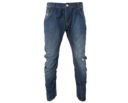 Blue Mid Wash Twisted Jeans at Republic