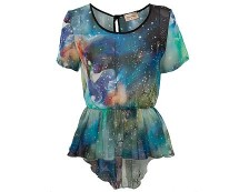 Cosmic Peplum Top at Republic