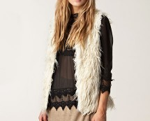 White Faux Fur Fifi Vest at Nelly