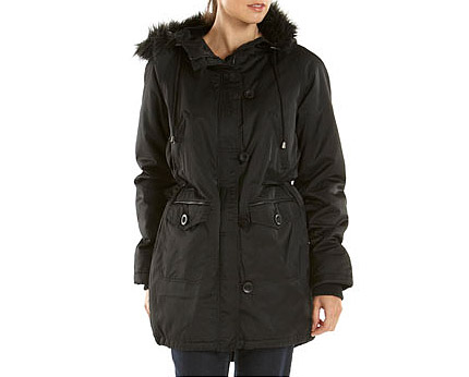 Faux Fur Trim Parka Jacket at Tesco