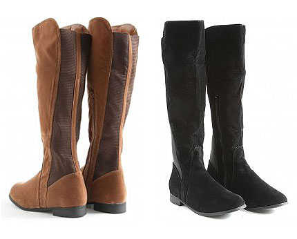 Knee High Suede Boots at Missguided
