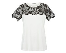 Lace Top Tshirt at Tesco