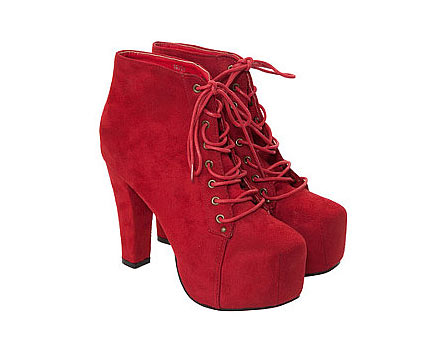 Lace Up Platform Boots at Republic