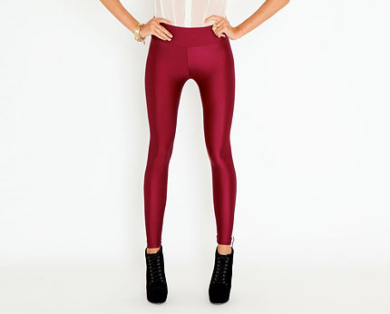Shiny Disco Leggings at Missguided