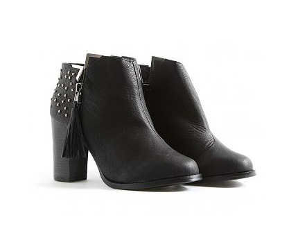 Tassel Zip Stud Ankle Boots at Missguided