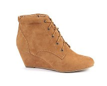 Wedge Ankle Lace Up Boots at Newlook