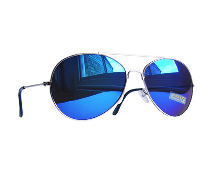 Aviator Blue Mirror Sunglasses at CX London