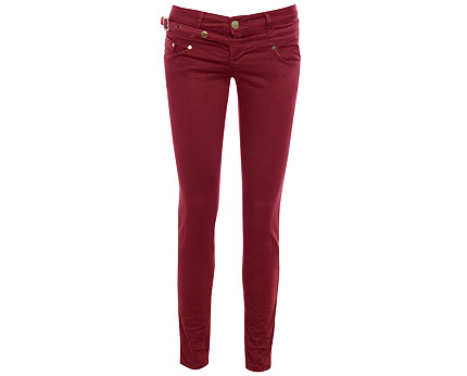 Burgundy Skinny Jeans at AX Paris