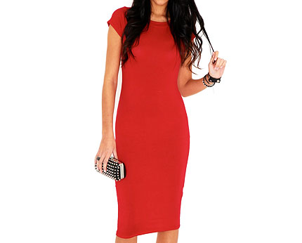 Cailey Midi Bodycon Dress at Missguided