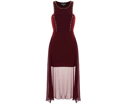 Dip Hem Studded Maxi Dress at ILWF