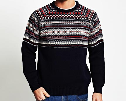 Fairisle Crew Neck Jumper at BHS
