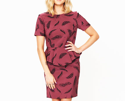 Fearne Cotton Printed Peplum Dress at K&Co