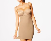 Beige Flexees Full Body Shaper at Isme