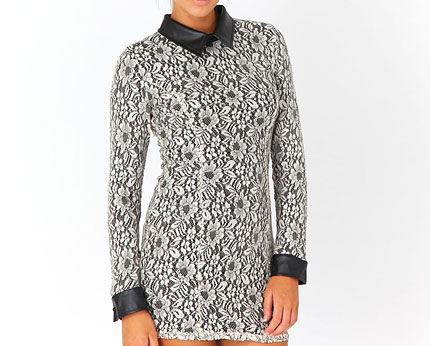 Floral Lace Dress at Missguided