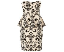 Izabel Baroque Peplum Dress at Bhs