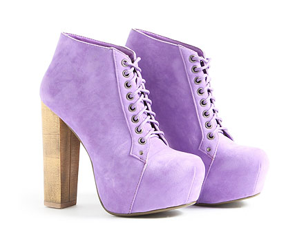 Kolett Lace Up Faux Suede Platform Boots at Missguided