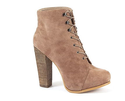 Lace Up Heeled Ankle Boots at Newlook