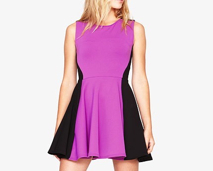Love Label Panelled Skater Dress at K & Co