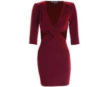 Love OX Blood Dress with Cut-out Sides