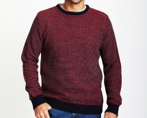 Men's Crew Neck Multi-Coloured Knit Jumper at Bhs