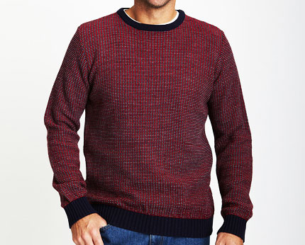 Knitting Pattern Mens Crew Neck Jumper : Crew Neck Multi Coloured Knit Jumper @ lookcubes - Affordable Fashion