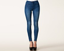 Only Andrea Highwaisted Denim Leggings at Nelly