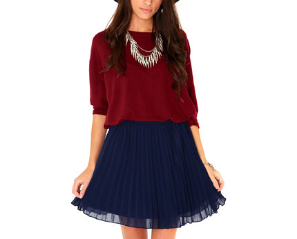 Ruthila Pleated Skater Skirt at Missguided